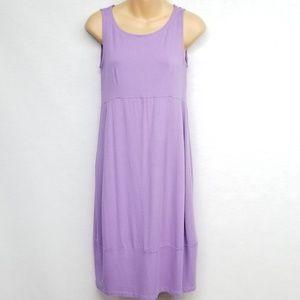 Eileen Fisher Petite Purple Tank Dress